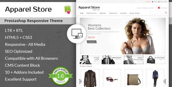Apparel Store – Responsive Prestashop Theme