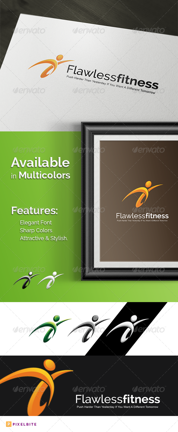 Flawless Fitness Logo Template - Humans Logo Templates