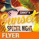 Sunset Special Night - v01 - GraphicRiver Item for Sale