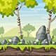 Cartoon Spring Landscape - VideoHive Item for Sale