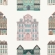 Old Styled Houses Seamless Pattern - GraphicRiver Item for Sale