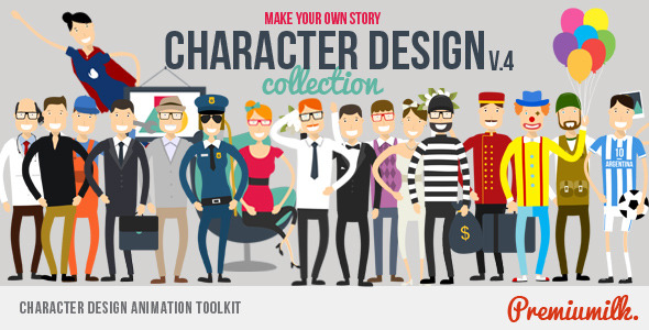 Character Design Animation Toolkit : Character design animation toolkit by premiumilk videohive