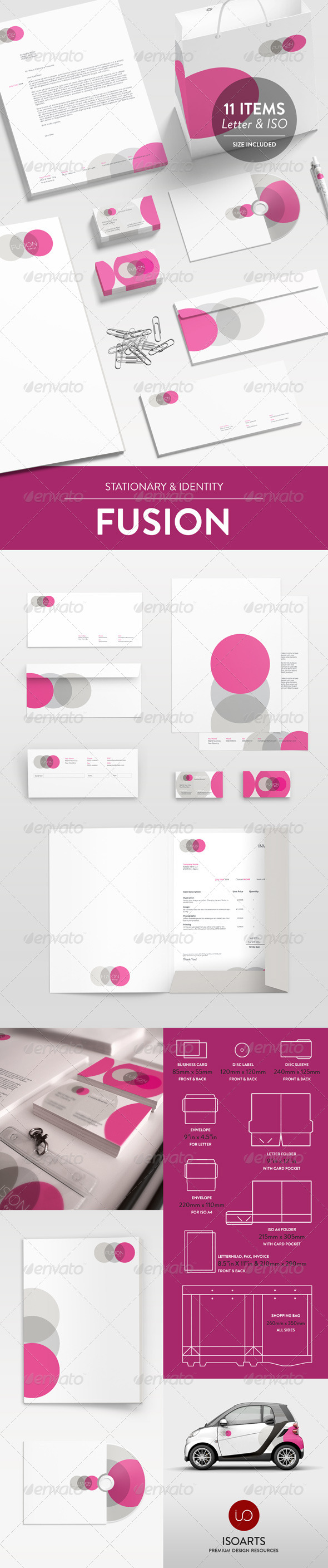 Fusion Series - Stationary & Identity - Stationery Print Templates