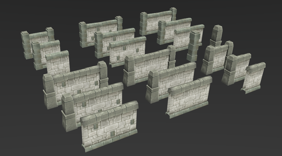 Low Poly Dungeon Wall By Zugzugart 3docean
