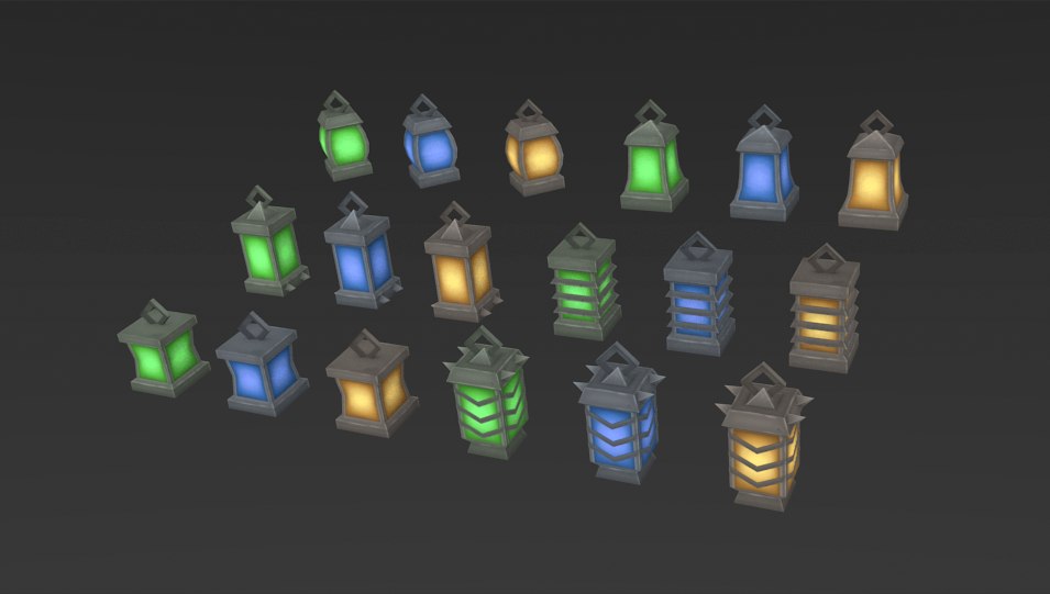 Low Poly Lantern Mega Pack By Zugzugart 3docean