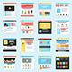 Set of Flat Website Templates - GraphicRiver Item for Sale