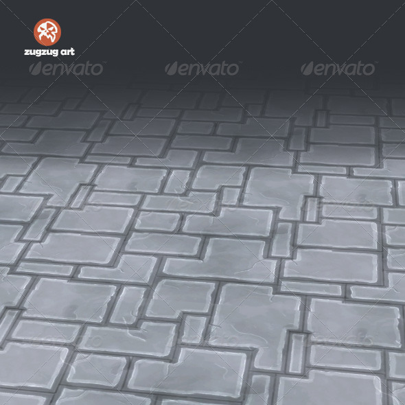 Stone Floor Texture Tile - 3DOcean Item for Sale