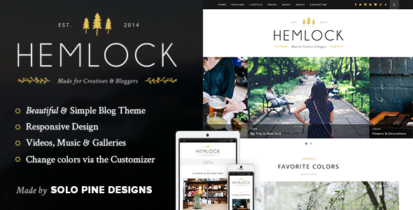 Hemlock – A Responsive WordPress Blog Theme