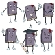Vector Set of Cartoon Characters -  Lively Books.  - GraphicRiver Item for Sale