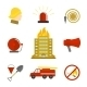 Flat Firefighting Icons  - GraphicRiver Item for Sale
