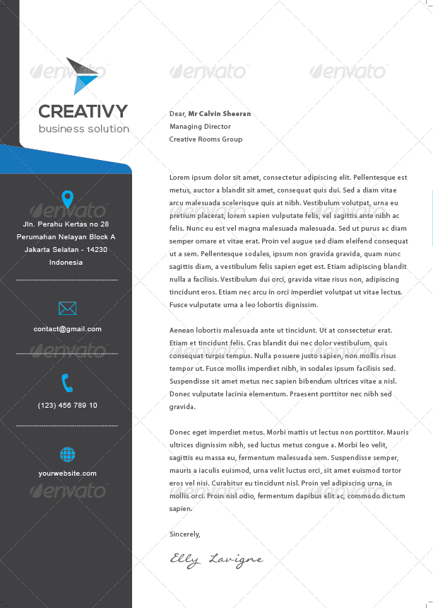 Modern Corporate Letterhead By Leaflove  Graphicriver