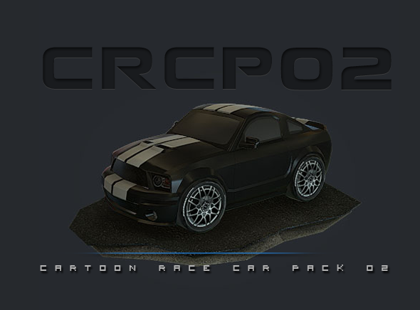 CRCP02 - Cartoon Race Car Pack 02 - 3DOcean Item for Sale