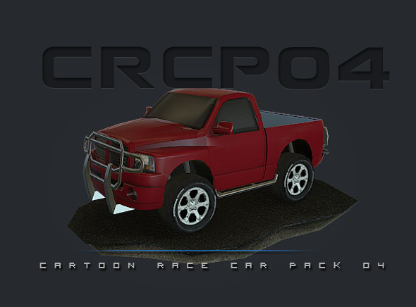 CRCP04 - Cartoon Race Car Pack 04 - 3DOcean Item for Sale