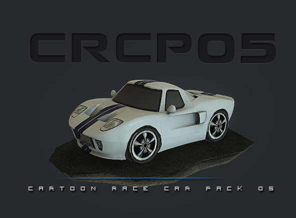 CRCP05 - Cartoon Race Car Pack 05 - 3DOcean Item for Sale
