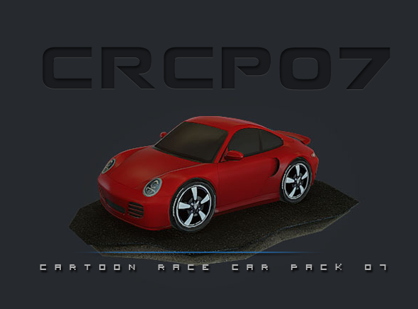 CRCP07 - Cartoon Race Car Pack 07 - 3DOcean Item for Sale