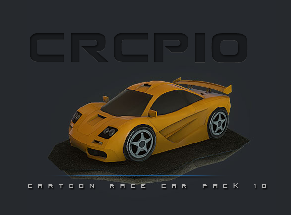 CRCP10 - Cartoon Race Car Pack 10 - 3DOcean Item for Sale