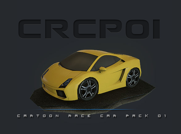 CRCP01 - Cartoon Race Car Pack 01 - 3DOcean Item for Sale