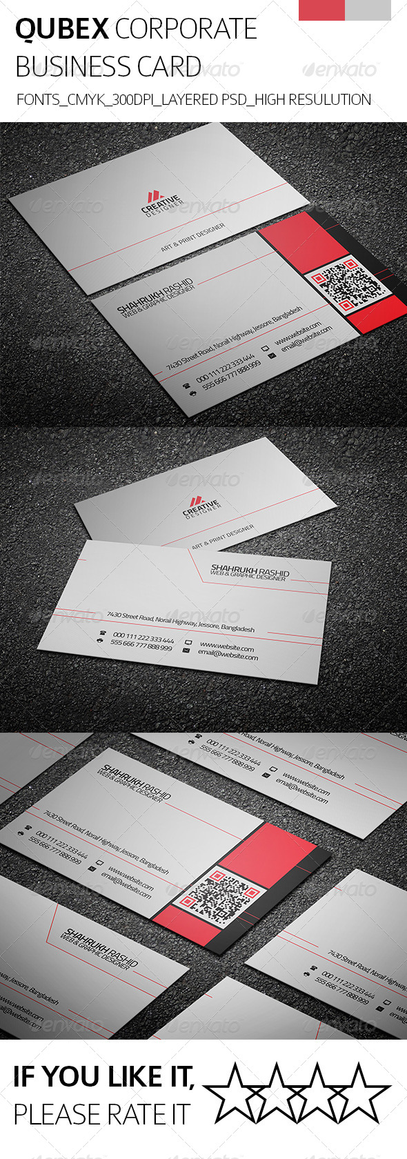Qubex & Corporate Business Card - Corporate Business Cards
