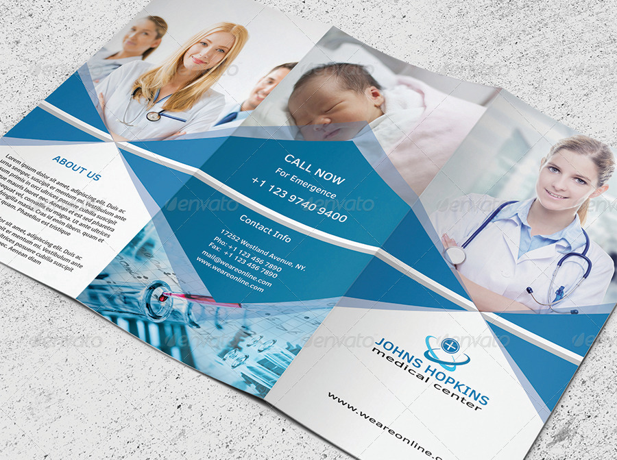 Medical Trifold Brochure by a2zprintdesign | GraphicRiver