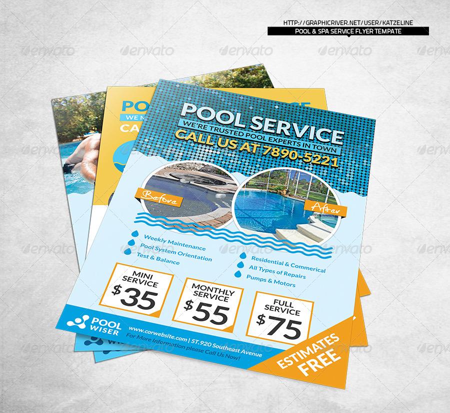 pool service flyers. Pool \u0026 Spa Service - Corporate Flyer Flyers