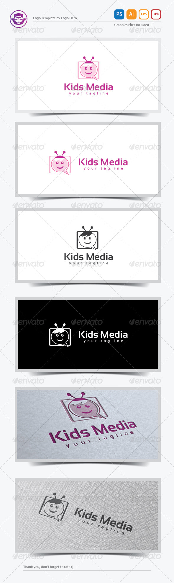 Kids Media Logo Template - Objects Logo Templates