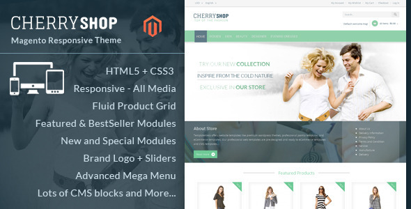 Cherry Shop - Magento Responsive Theme - Fashion Magento