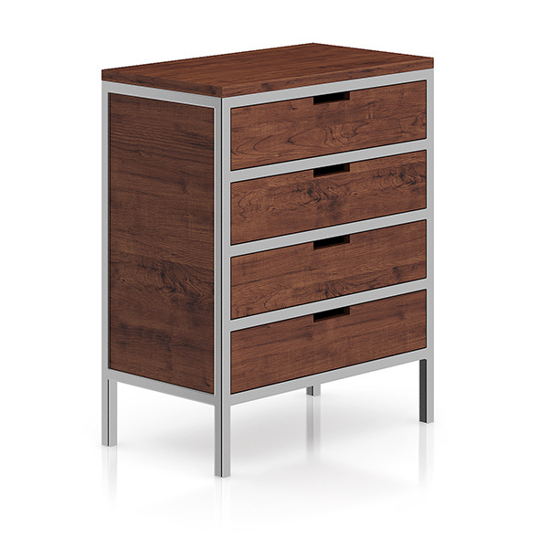 Wooden Cabinet with Metal Frame - 3DOcean Item for Sale