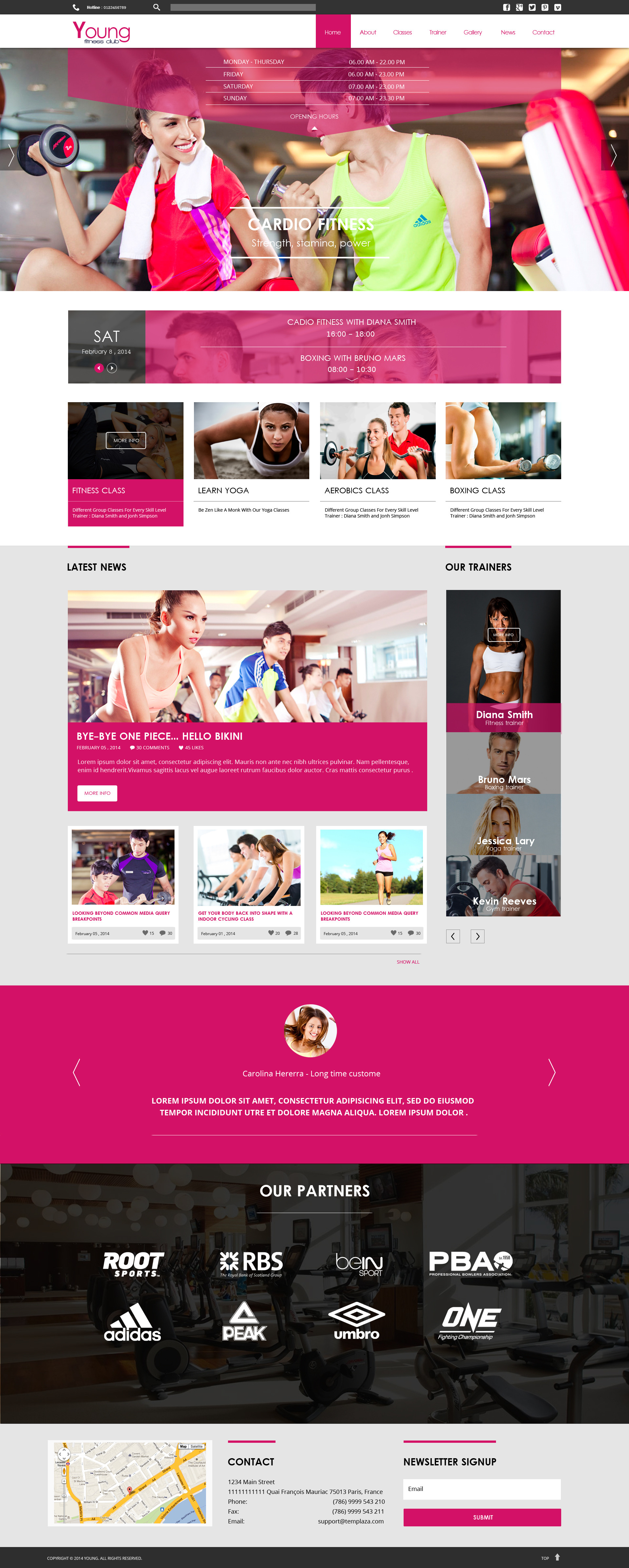 Young Fitness - Spa & Fitness WordPress Theme by templaza | ThemeForest