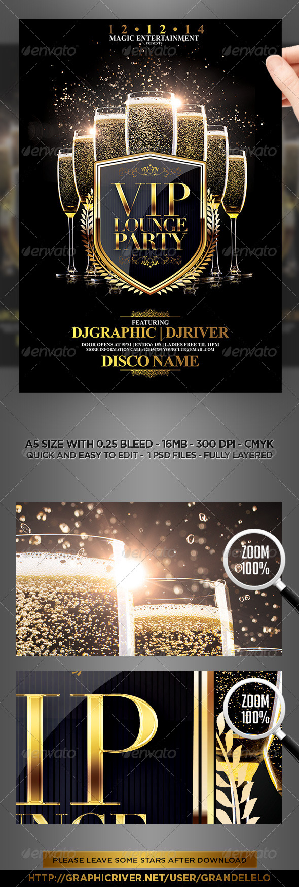 VIP Lounge Party Flyer Template   Clubs U0026 Parties Events
