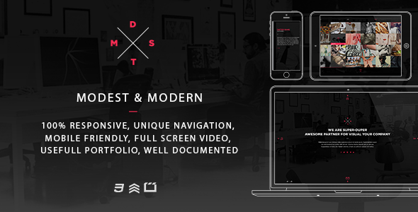 MDST – Modest & Modern Multipurpose HTML5 Template