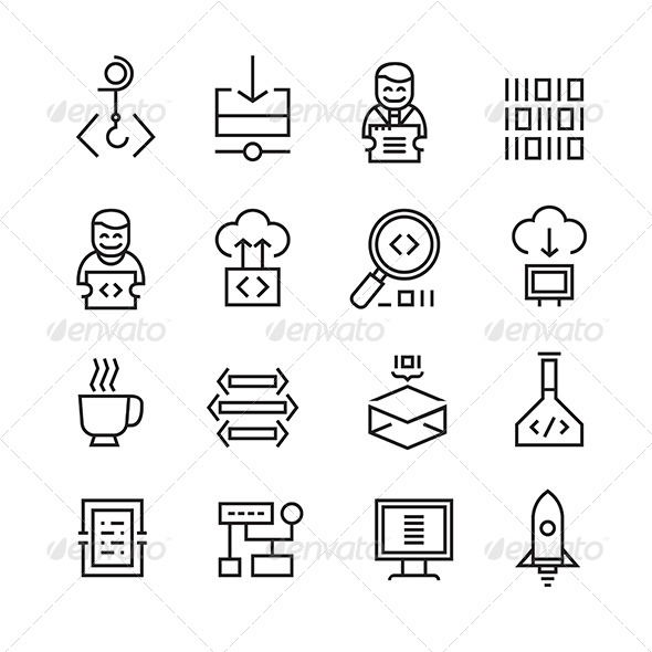 Web Development and Seo Icons - Technology Icons