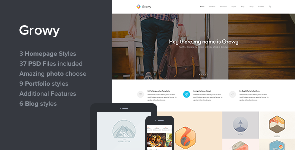 Growy – Multi-Purpose PSD Template