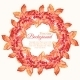 Watercolor Autumn Wreath with Leaves and Berries - GraphicRiver Item for Sale