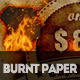 Burnt Paper with Fire Effects Photoshop Creator