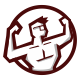 Nerd Muscle Logo Mascot - GraphicRiver Item for Sale