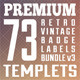 Premium Retro Vintage Badge Labels Bundle v3 - GraphicRiver Item for Sale