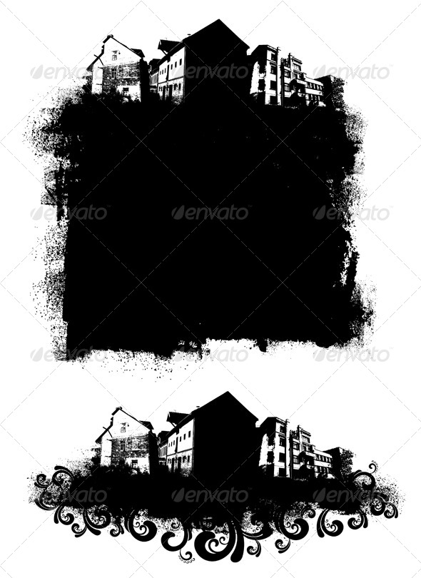 Urban Banners - Abstract Conceptual