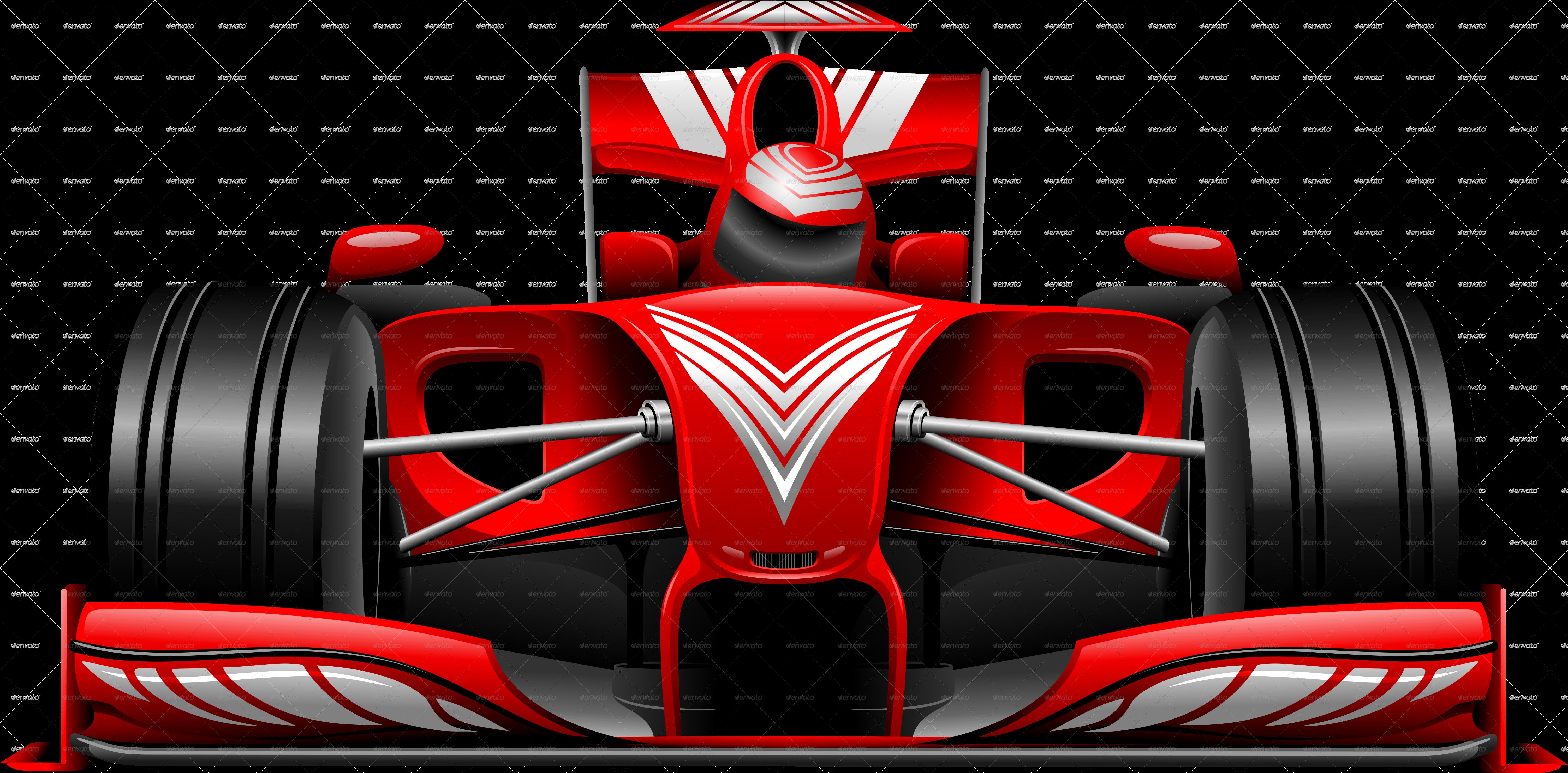 Formula Red Car On Race Track By Bluedarkat Graphicriver
