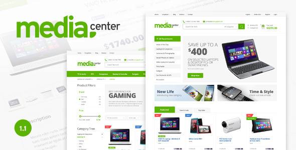 Media Center – Electronic eCommerce PSD Template