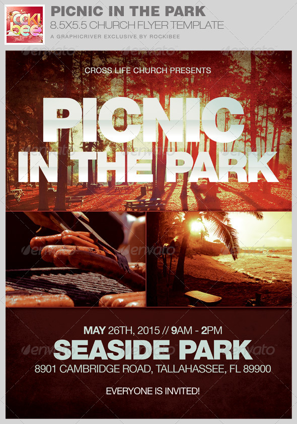 Picnic In The Park Flyer Template By Rockibee | Graphicriver