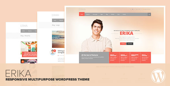 Erika – Responsive Multipurpose WordPress Theme
