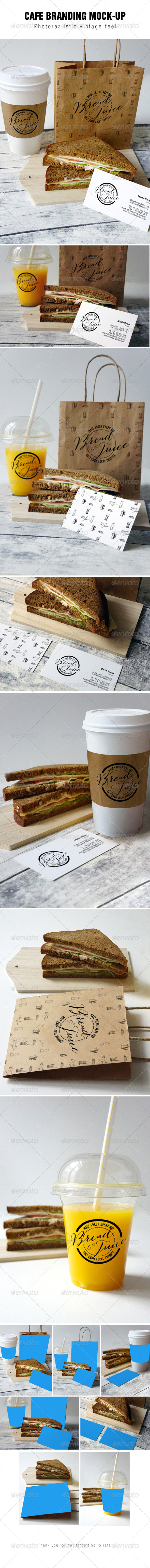 Sandwich Cafe Mockup - Food and Drink Packaging
