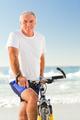 Senior man with his bike - PhotoDune Item for Sale