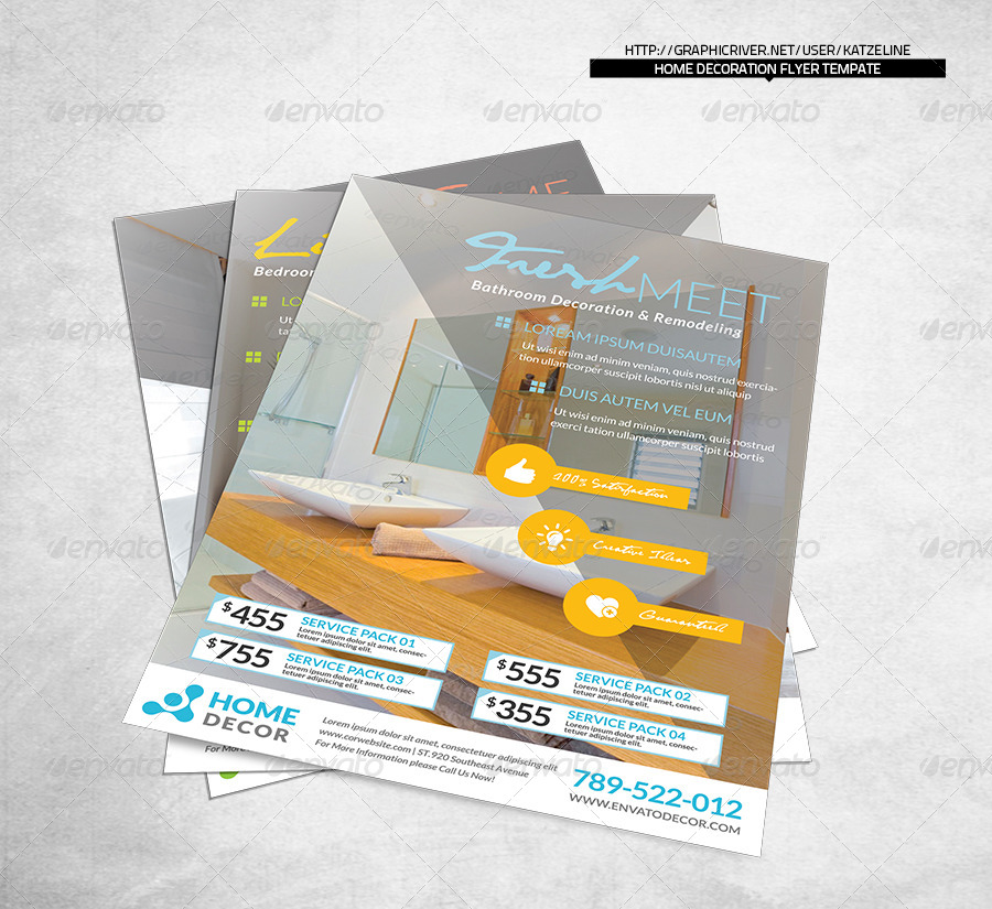 Home Decoration Corporate Flyer By Katzeline Graphicriver