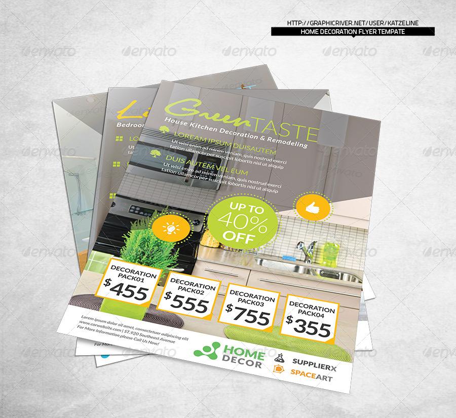 Home decoration corporate flyer by katzeline graphicriver for Envato graphicriver