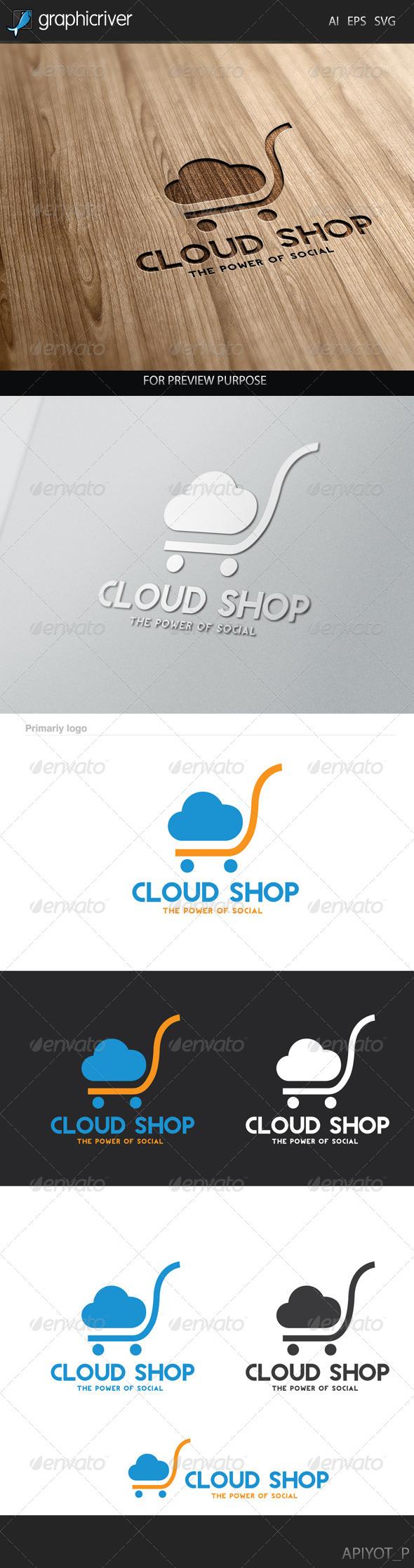 Cloud Shop Logo - Symbols Logo Templates