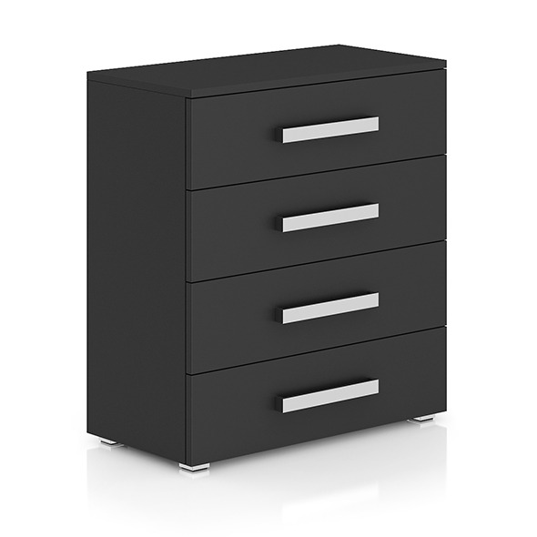 Dark-grey Cabinet with Drawers - 3DOcean Item for Sale