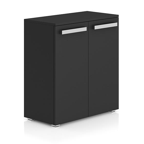 Dark-grey Cabinet with Doors - 3DOcean Item for Sale