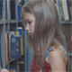 Girl in Library - VideoHive Item for Sale