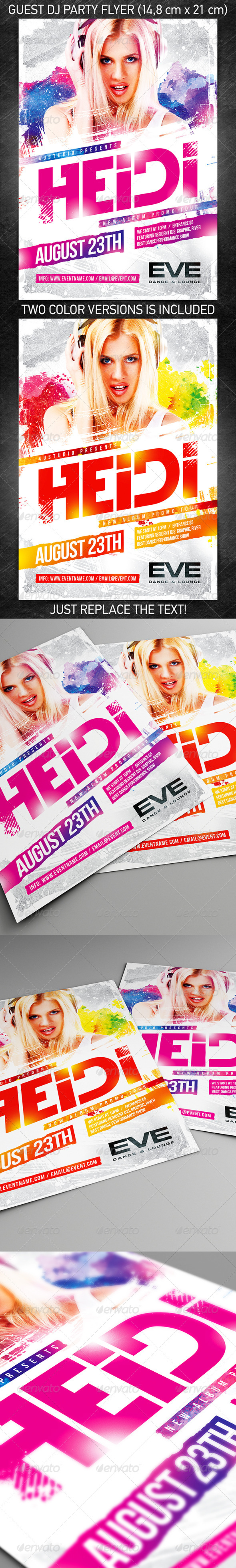 Guest DJ Party Flyer vol.6 - Clubs & Parties Events